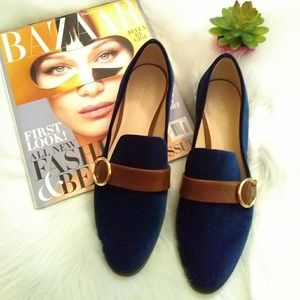 Nine West flats sz 9M blue & Brown